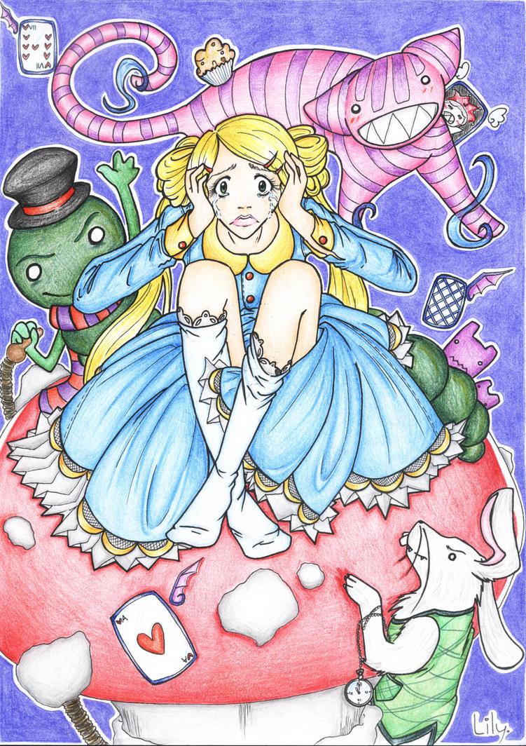 Alice in Wonderland I. by Manteniel