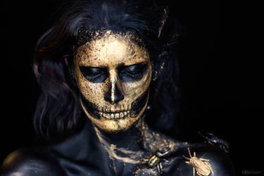 golden skull by rager-ac