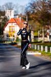 a sunny autumn day in shiny latex - camika-ze