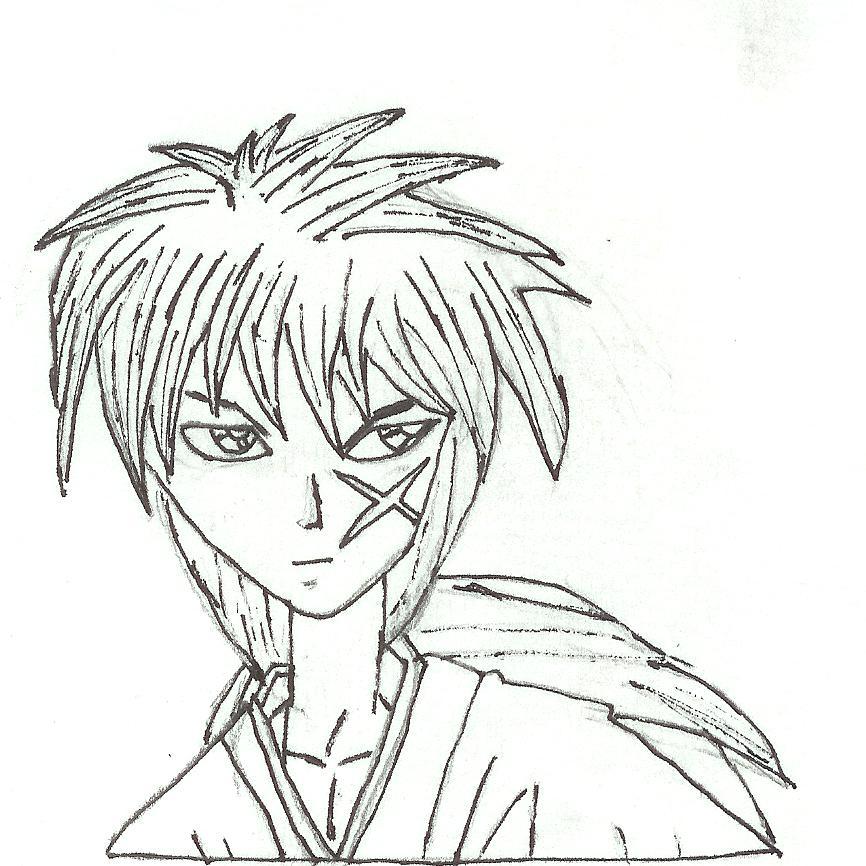 Rurouni Kenshin Drawing By Slifersummoner