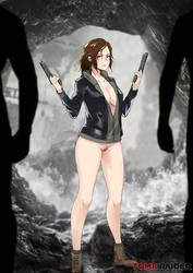 Tomb Raider Lara Croft_nsfw Fan art by Kometoze