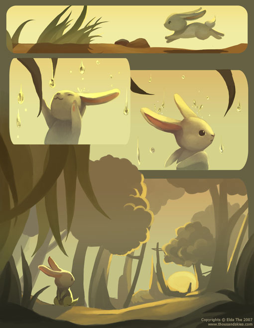 The Rabbit and The Moon by ethe