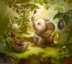 Elephant who likes Eggplant