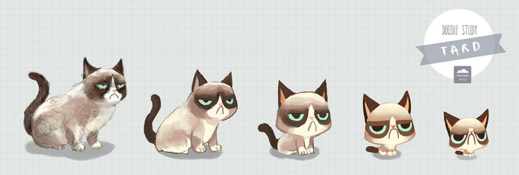 Tard the Grumpy Cat by ethe