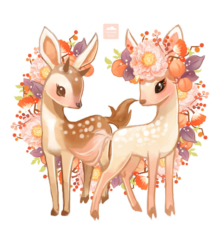 The Fawn Siblings by ethe on DeviantArt
