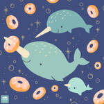 Narwhal Love Donuts
