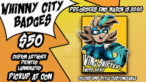 Whinny City Badge commissions OPEN