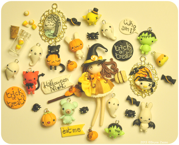 Art I Cake Halloween Charms : Halloween charms by fiordifragola on deviantART