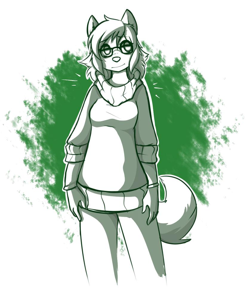 Shades of Green by MewgletheWolf