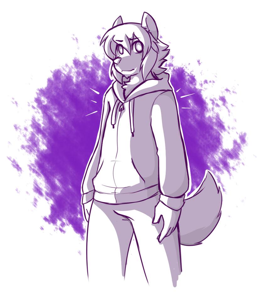 Shades of Purple by MewgletheWolf