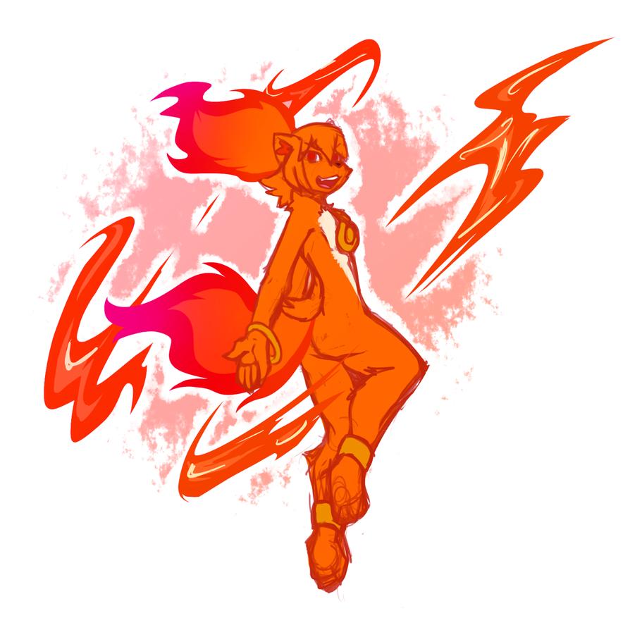 Fire Dance by MewgletheWolf
