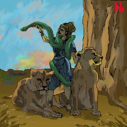 The Snake Goddess by PeKj