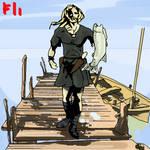 Viking time fisherman