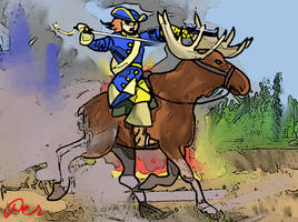 Captain Peter Langstrom: the Elk Rider by PeKj