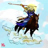 Valkyrie Rider in the Sky by PeKj