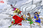 Valkyries going into Battle by PeKj