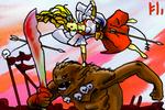 Valkyrie i Troll Battle