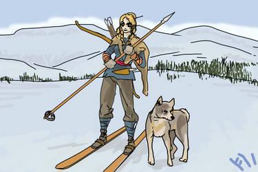 Skade on Winter Hunt