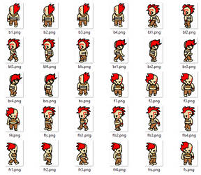 3 direction walkcycle sprite sheet