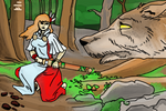 Reds and the Wolf by PeKj