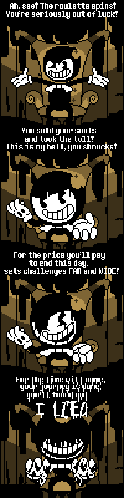 Cuphead x BATIM] Brothers In Arms (Devil Lyrics) by