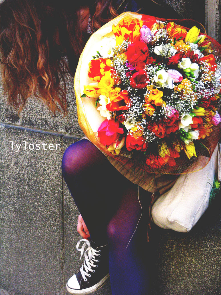 The girl with the flowers by lyloster - ~ Avatar [ HazaL ]