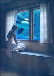 ocean in my window by DanielPriego