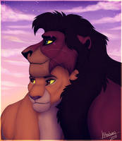 King and Lionheart by P4ndora-L