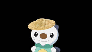 Oshawott with a straw hat