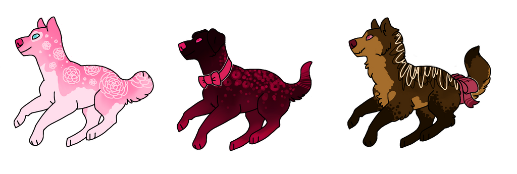 valentine's pup adopts - open by oceanewolfe