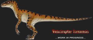 JPDinos: Male Raptor TLW -WIP- by T-Joe