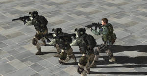 Chris and his BSAA team 2