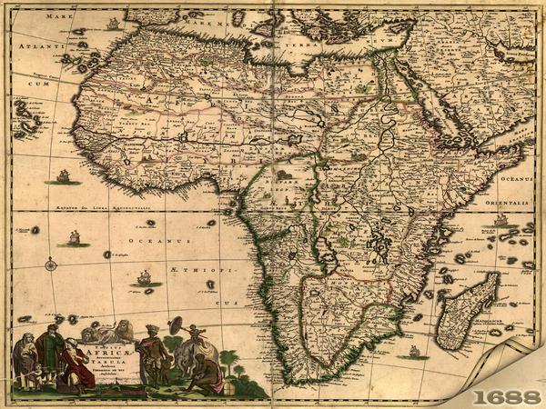 Africa Map 1688 by klen70 on DeviantArt