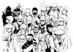 20 Ninjas -line art-