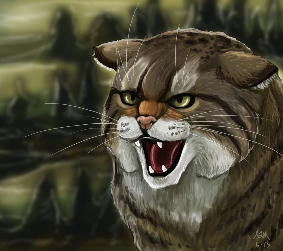 Wildcat Portrait by Blairaptor