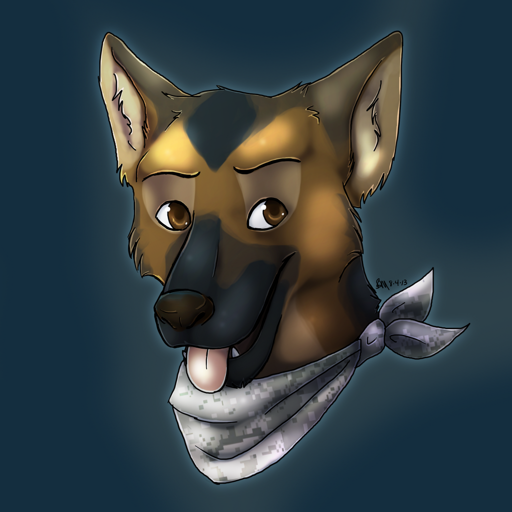 German Shepherd Portrait by Blairaptor