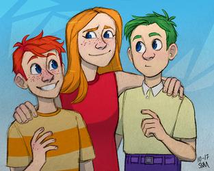Flynn-Fletcher Kids by Blairaptor