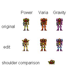 Samus Fusion Suit Sprites Samus sprite edits by ...