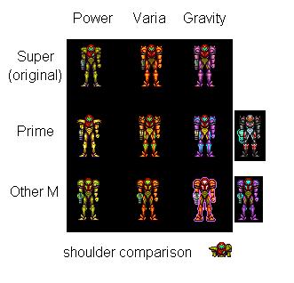 Samus Fusion Suit Sprites Samus sprite edits v2 ...