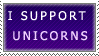 I Support Unicorns Stamp by SunsetDeamon