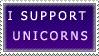I Support Unicorns Stamp by SunsetDeamon