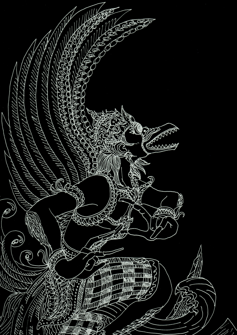 Maha garuda by reidge on deviantart for Mural hitam putih keren