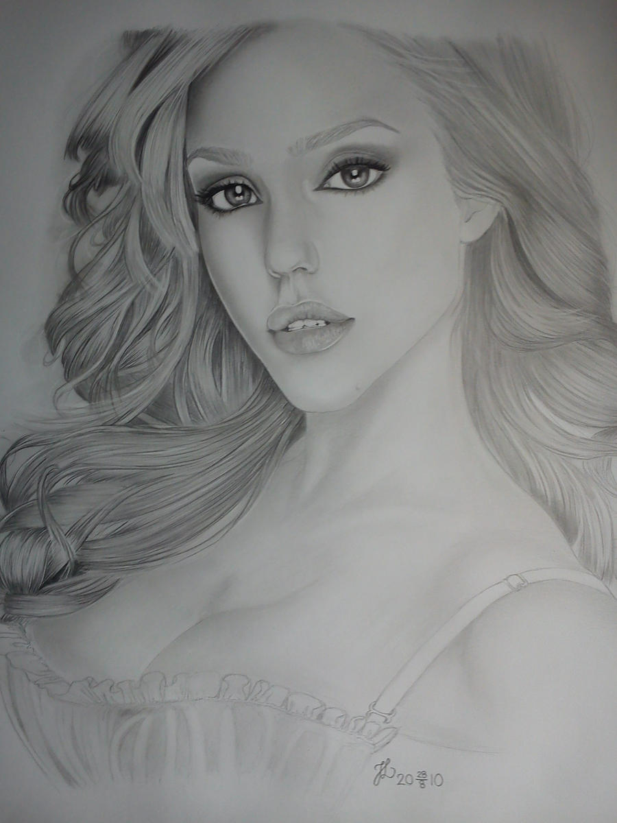 Jessica Alba My best drawing ever by Drawlover on DeviantArt