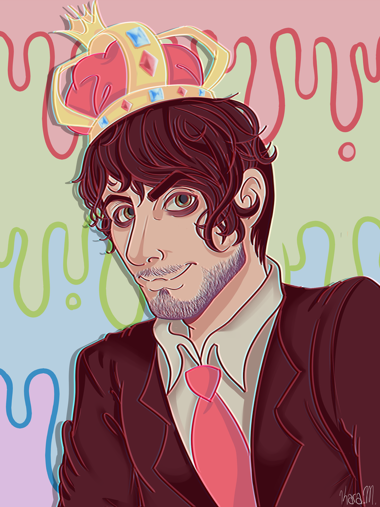 Kawaii Pastel Queen Darkiplier by Sugah-Stixx