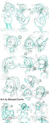 Fethry Duck Studies by madmaxsol
