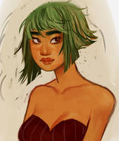 Ophelia Portrait (again) by eggbie