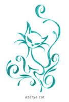azarya cat color by xoulart