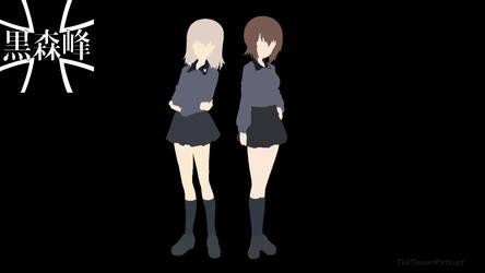 Maho And Erika Minimalist (Girls Und Panzer) by The-Tawny-Patriot