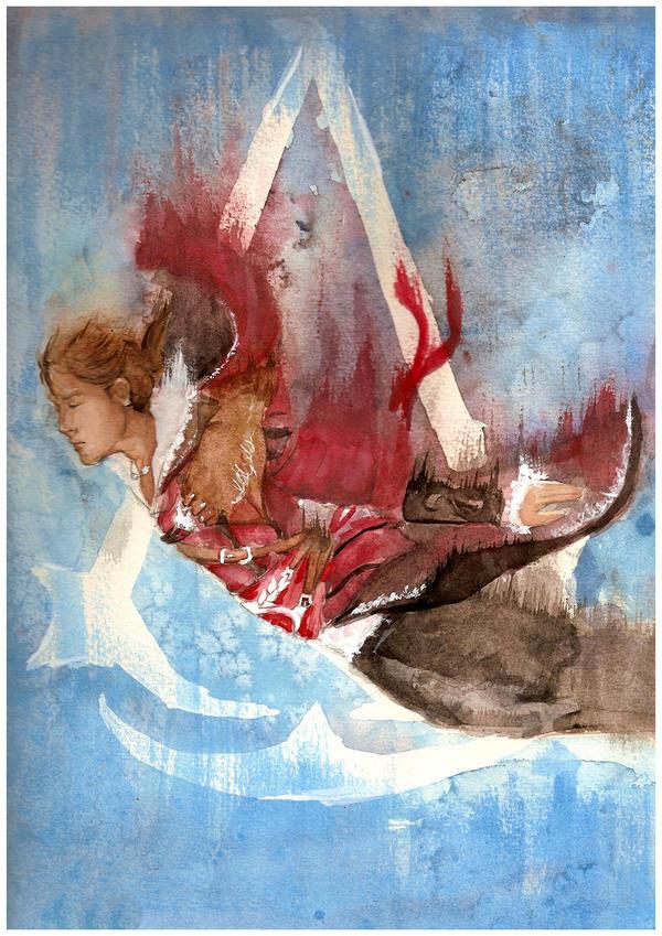 Break Away Painting by chibipandora