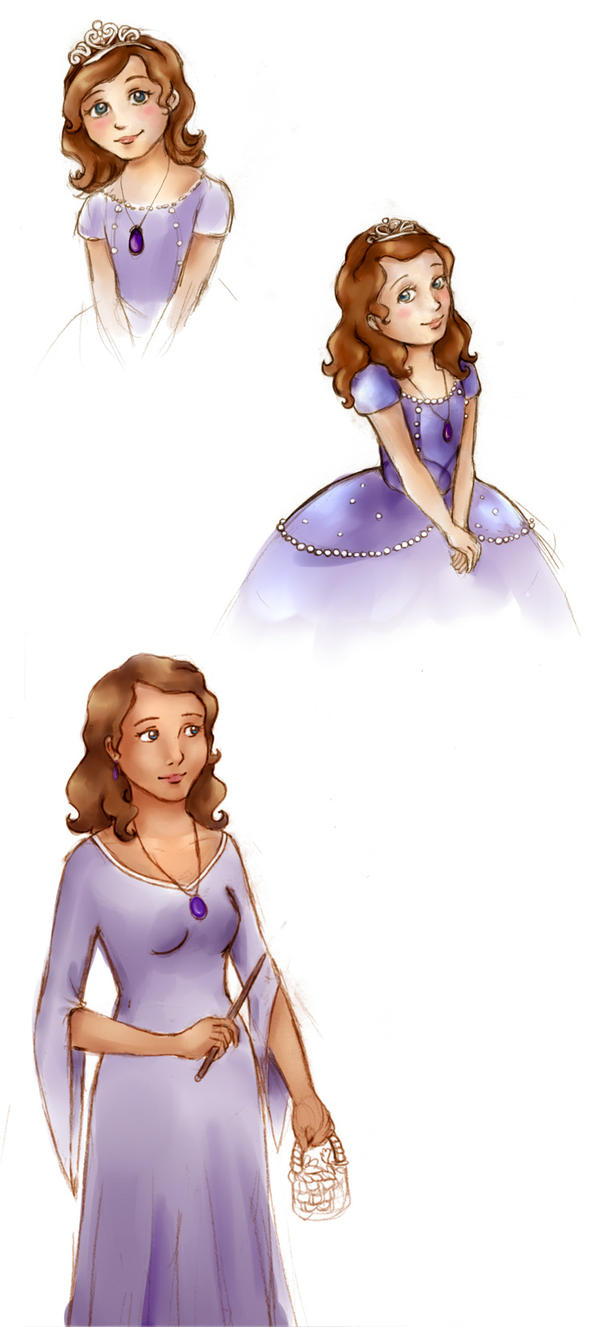 Sofia the First Sketches by chibipandora
